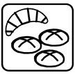 Pictogramm Brötchenservice