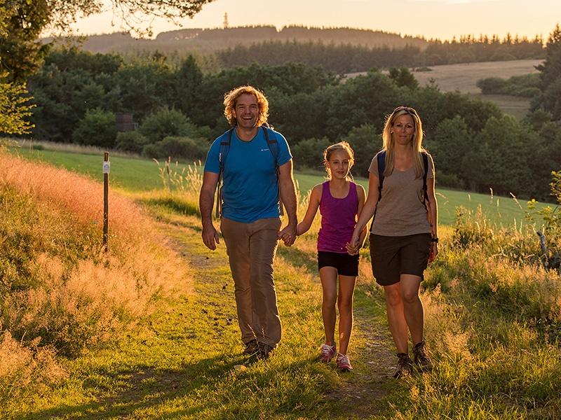 3 Wanderer auf einem Traumpfädchen-Weg